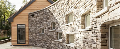 Kylemore stone wall feature
